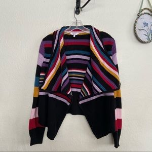 Candie's Multi Colored Striped Knit Cardigan